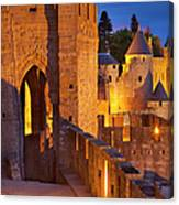 Carcassonne Ramparts Canvas Print
