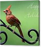 Cardinal Holiday Card Canvas Print