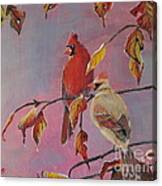 Cardinals In Falls Canvas Print