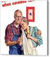 Careless Talk Kills -- Ww2 Propaganda Canvas Print