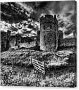 Carew Castle Pembrokeshire 4 Mono Canvas Print