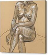 Carina Seated Canvas Print