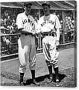 Carl Hubbell & Vernon Lefty Gomez Canvas Print