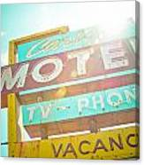 Carlyle Motel Canvas Print