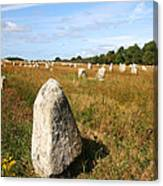 Carnac Standing Stones Canvas Print