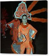 Carnaval De Ponce In Orange Canvas Print