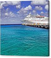 Carnival Elation Docked At Cozumel Canvas Print