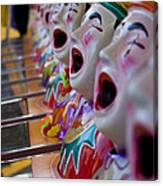 Carnival Of Clowns Canvas Print
