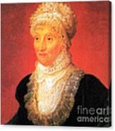 Caroline Herschel, German-british Canvas Print