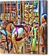 Carousel 7 Hdr Canvas Print