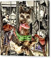 Carousel Cat Canvas Print