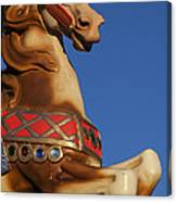 Carousel Horse Against Blue Sky Canvas Print