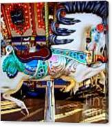 Carousel Horse With Leaves Canvas Print