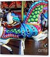 Carousel Horse With Sea Motif Canvas Print