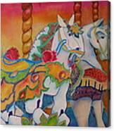 Carousel Of Horses Canvas Print