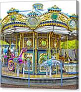Carousel Ride In Pittsburgh Pennsylvania Canvas Print