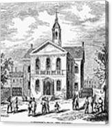 Carpenters Hall, 1855 Canvas Print