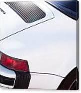Carrera Porsche White Backend  Canvas Print