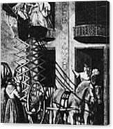 Carriage Cartoon, 1776 Canvas Print
