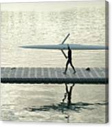 Carrying Single Scull Canvas Print