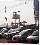 Cars In A Parking Lot At Surajkund Canvas Print
