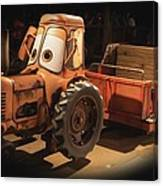 Cars Land Cow Tractor Canvas Print