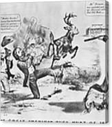 Cartoon: Election Of 1856 Canvas Print
