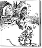 Cartoon: New Deal, 1937 Canvas Print