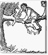 Cartoon: Secession, 1861 Canvas Print