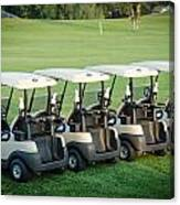 Carts Ready To Hit The Greens Canvas Print