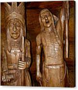 Carved American Indians Canvas Print