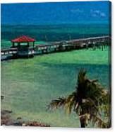 Casa Marina Pier Canvas Print