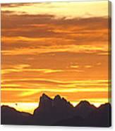 Cascade Mountains Sunrise 1 Canvas Print