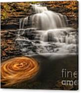 Cascading Swirls Canvas Print