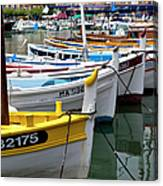 Cassis Boats Canvas Print