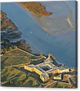 Castillo De San Marcos In St Augustine Florida - Aerial Photo Canvas Print