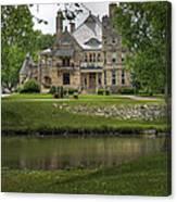 Castle Across River Canvas Print