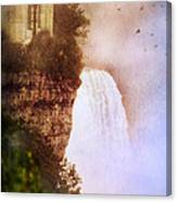 Castle At The Edge Of The Falls Canvas Print