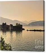 Castle Cannero On Lake Canvas Print