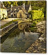 Castle Combe Bridgeside Canvas Print