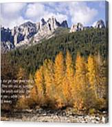 Castle Crags Autumn Canvas Print