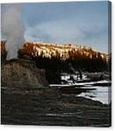 Castle Geyser Yellowstone National Park Canvas Print