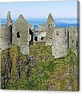 Castle On A Cliff, Dunluce Castle Canvas Print