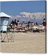 Castle On The Beach Canvas Print