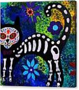 Cat Day Of The Dead Canvas Print