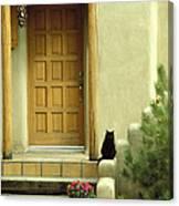 Cat Post Canvas Print