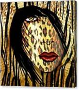Cat Woman 2 Canvas Print