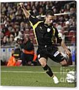 Catalan Player Shooting Canvas Print