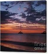 Catamarans  At Sunset Canvas Print