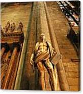 Cathedral Statue Milan Italy Canvas Print